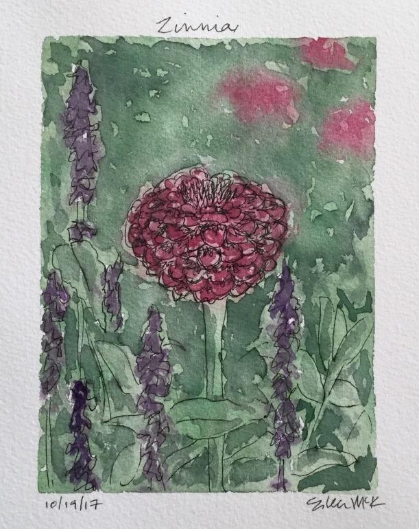 Zinnia by Eileen McKenna