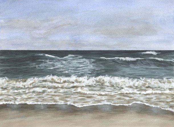 September by Eileen McKenna | Watercolor seascape #coastalinteriors