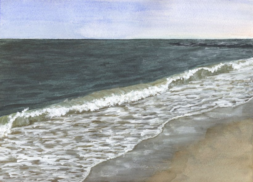 West by Eileen McKenna | Watercolor seascape #coastalinteriors