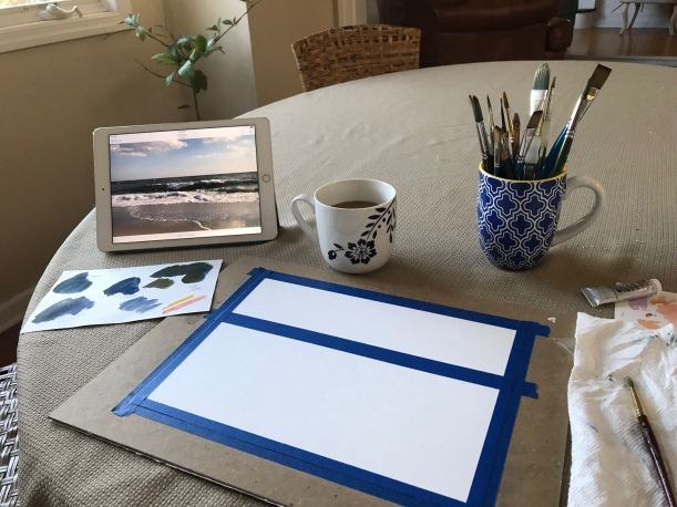 Creative hopefulness - the beginning of a watercolor painting