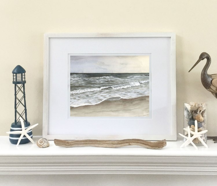 """Light"" by Eileen McKenna - capturing the light when painting in watercolors #coastalart #coastalinteriors"