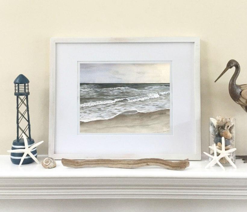 """Light"" by Eileen McKenna - capturing the light when painting in watercolors #coastalart #coastalinteriors"