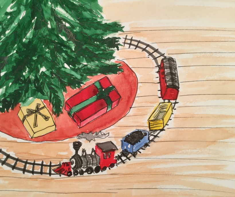 Christmas Countdown Day 7/25 - train set