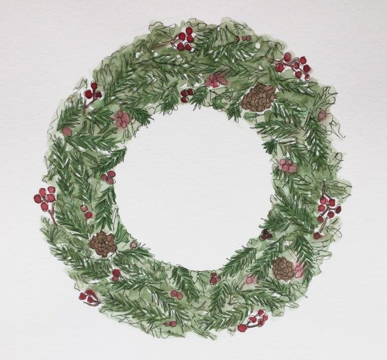 Christmas Countdown 2/25 | #wreath #christmas