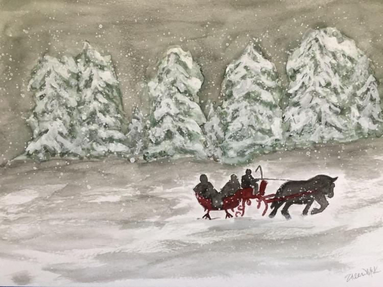Christmas Countdown Day 13/25 - Sleigh