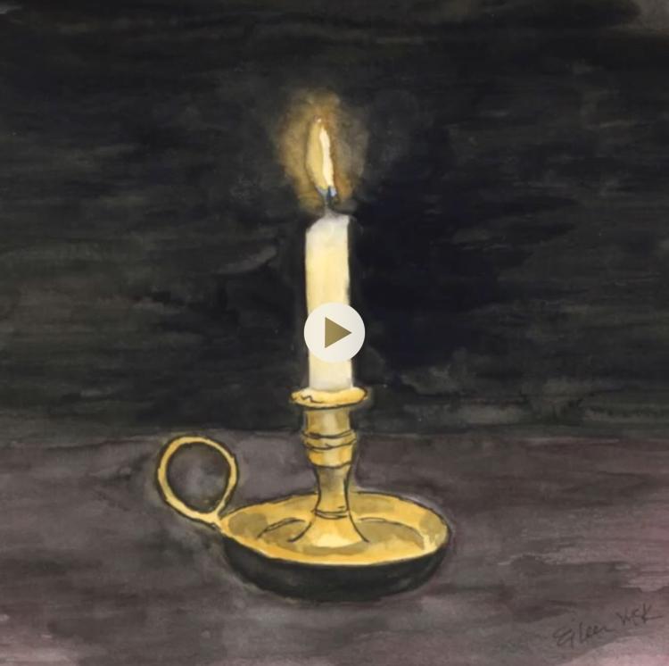 Flickering candle animation #animation