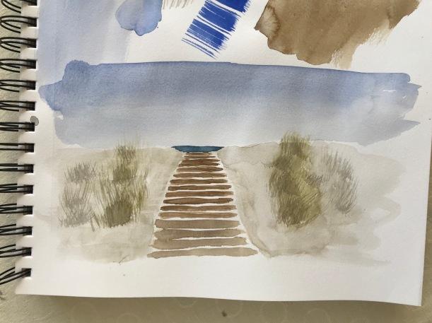 Beach walkway sketch