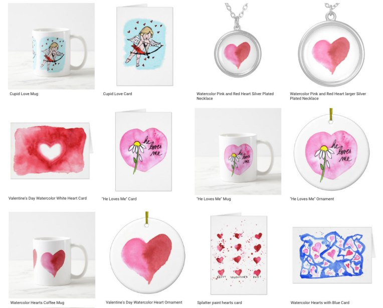 Valentine's Day gifts by Eileen McKenna on Zazzle #valentines #day #gifts