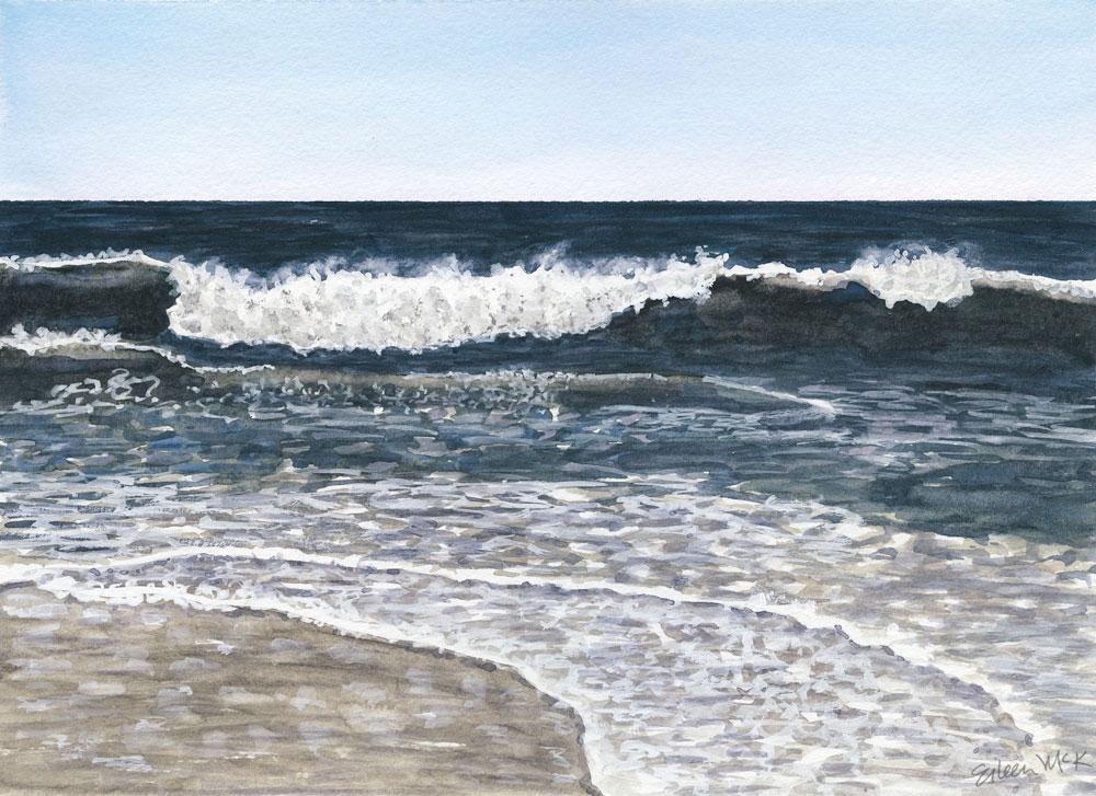 Blue Wave #11 by Eileen McKenna https://shop.eileenmckenna.com/
