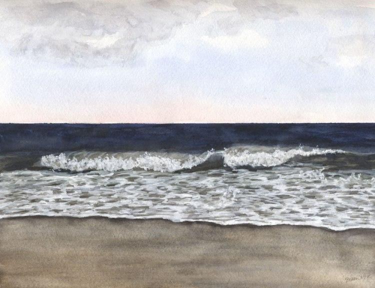 "Watercolor Seascape ""November 1"" by Eileen McKenna"