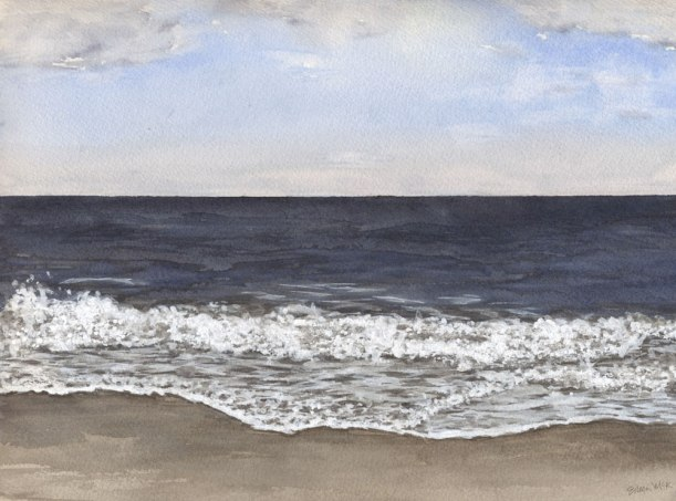 "Watercolor Seascape ""November 2"" by Eileen McKenna"