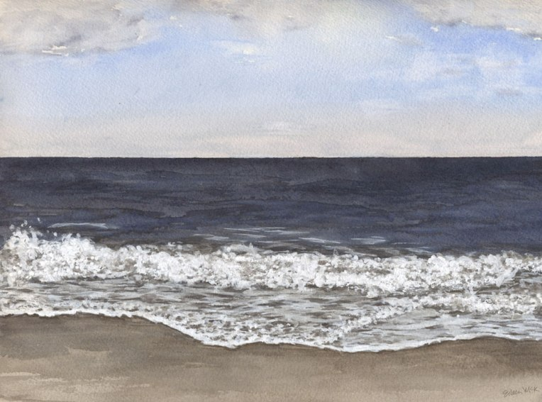 "Watercolor Seascape ""November 2"" by Eileen McKenna"
