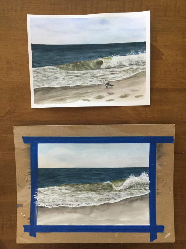 Two paintings of the same subject