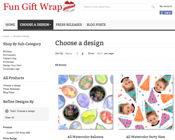 Unique personalized gift wrap