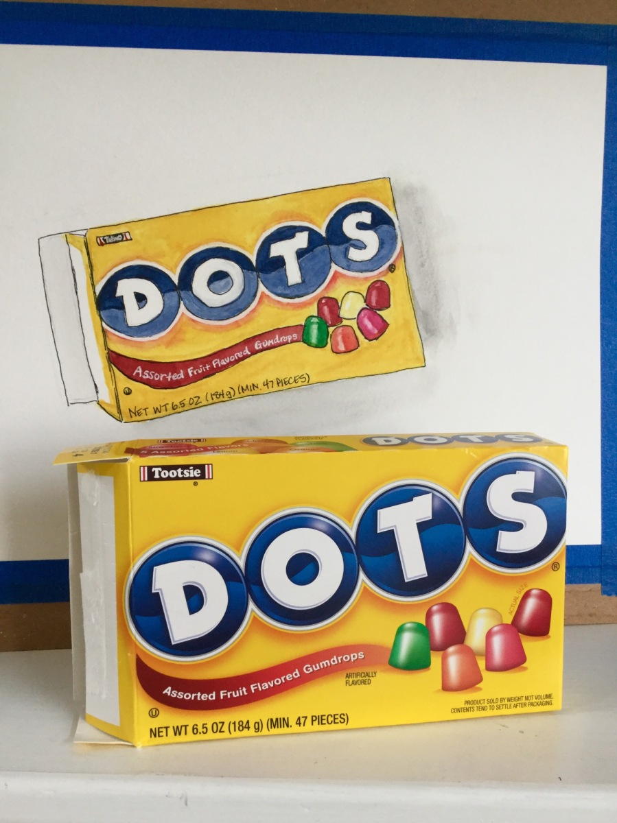 Painting candy packaging - Dots #candy #illustration #food