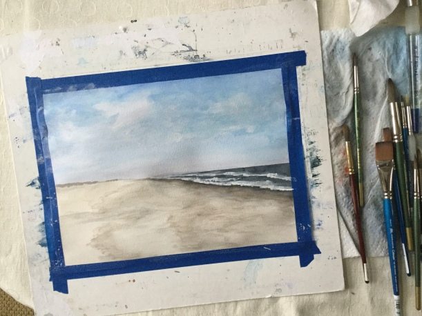 Painting the sky in watercolor