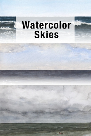 Painting the sky in Watercolor #watercolor #skies #sky