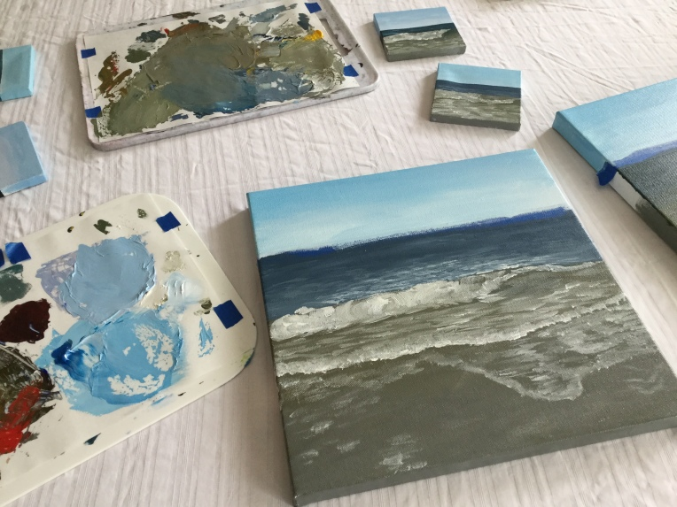 Going from watercolor to acrylics