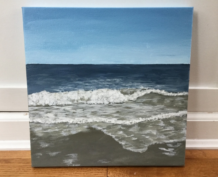 Going from watercolor to acrylics, painting acrylic seascapes