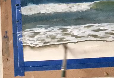 Painting the ocean's edge