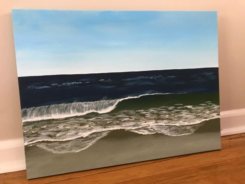 Acrylic seascape by Eileen McKenna