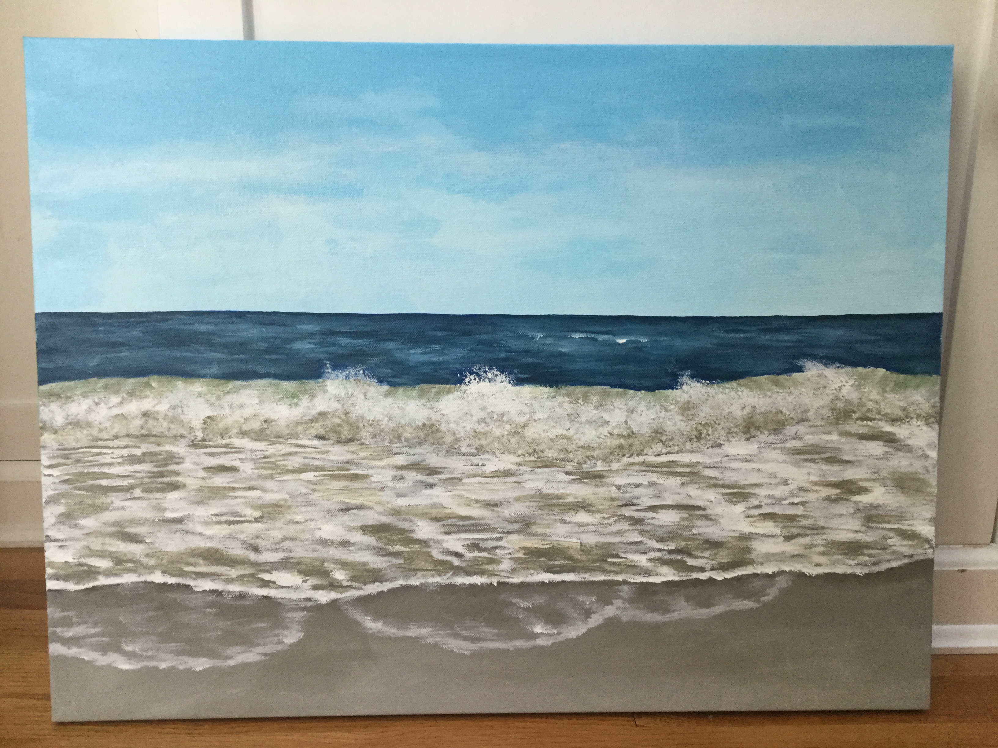 Acrylic seascape by Eileen McKenna | painting waves