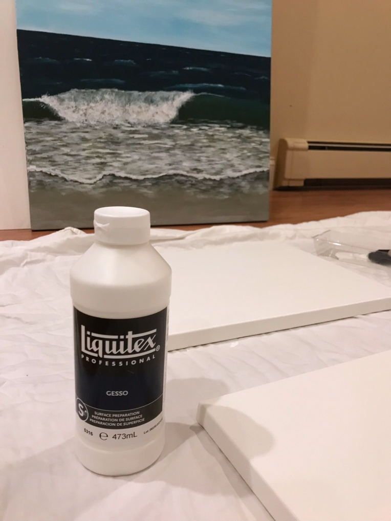 Acrylic Painting Routines - priming the canvas with gesso