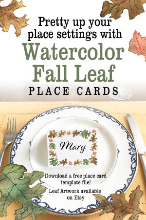 Thanksgiving place cards | place card template | Thanksgiving table decor centerpieces place settings