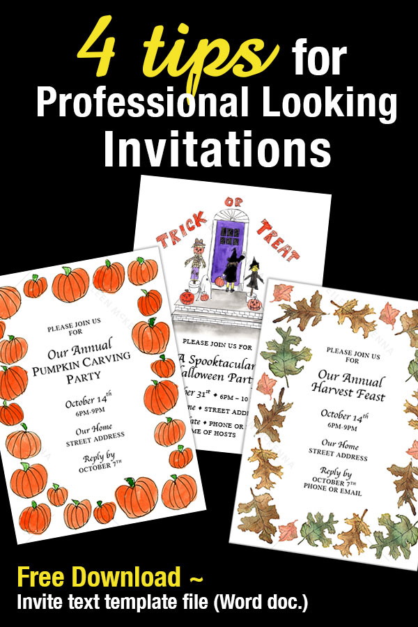 4 tips for professional looking invitations | fall halloween holiday invites