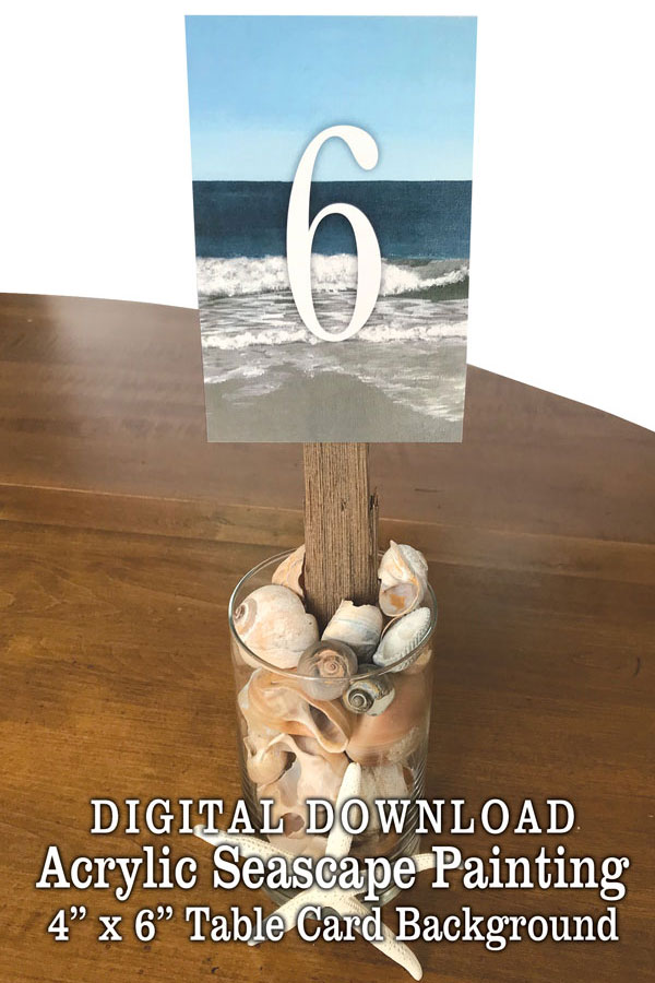 DIY Beach Wedding Table Numbers Centerpiece | Beach Wedding Shell Driftwood Decorations