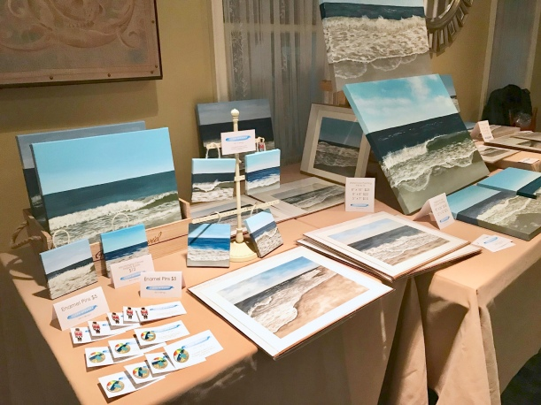 My first vendor event - recap and tips | selling my paintings in person