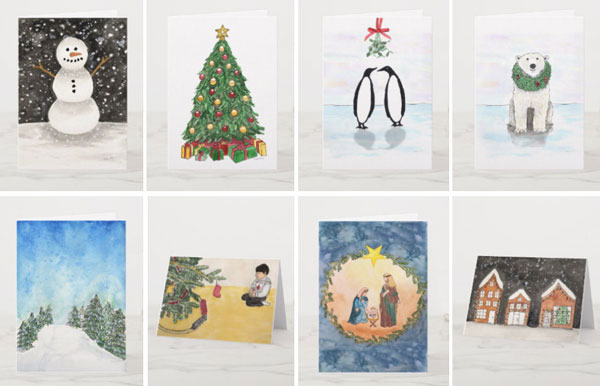 Holiday cards on Zazzle | unique Christmas cards | Christmas art
