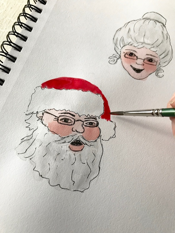 Santa and Mrs. Claus illustration