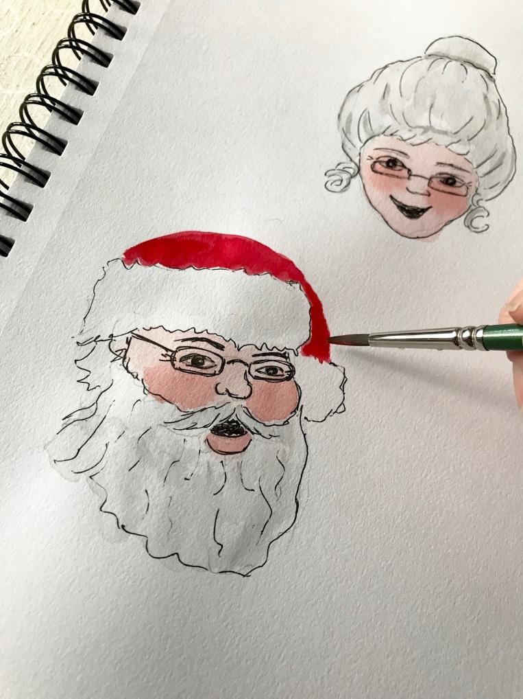 Santa and Mrs. Claus illustration