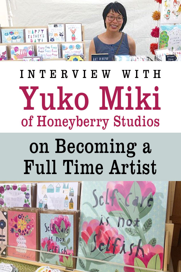 Interview with Yuko Miki of Honeyberry Studios on becoming a Full Time Artist | artist advice