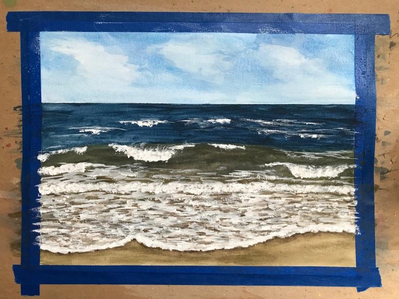 Painting the ocean in watercolor final