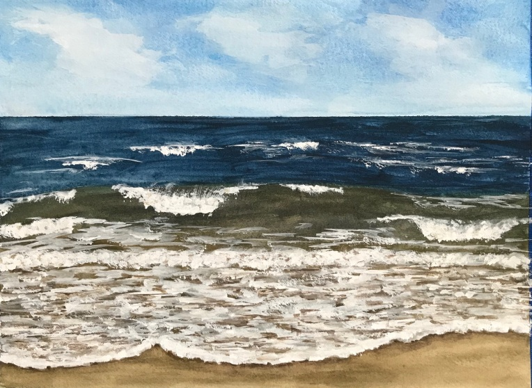 Coastal inspired art | watercolor seascape by Eileen McKenna