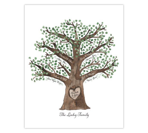 Customizable Family Tree Digital Download Printable | Unique Grandparent Mother's Day gift