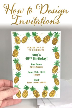 How to Design Invitations | DIY Invites | Invitation Tutorial | Easy Invites