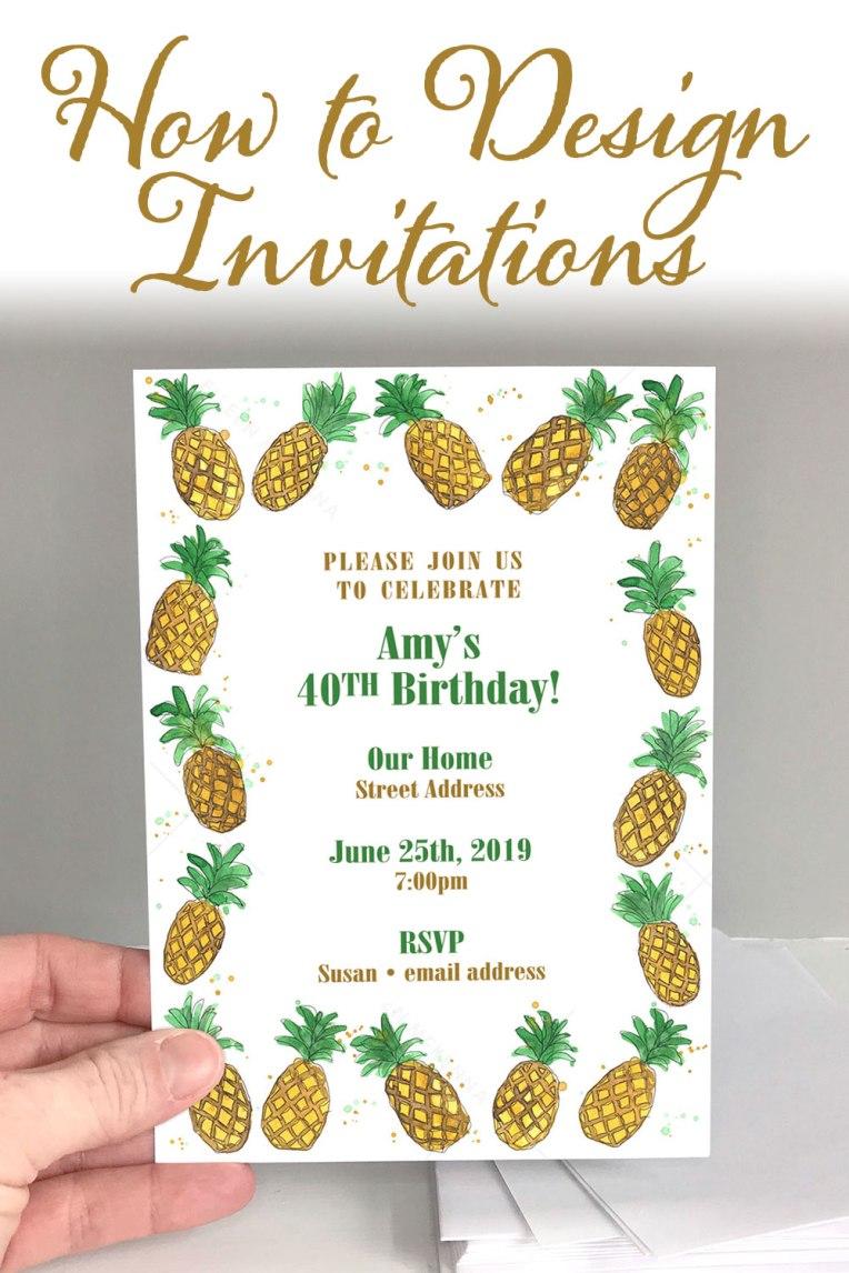 How to Design Invitations | DIY Invites | Invitation Tutorial | Easy Invites