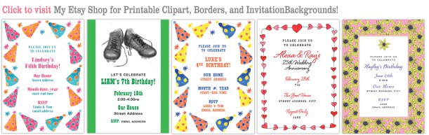 How to Design Invitations using downloadable art Eileen McKenna