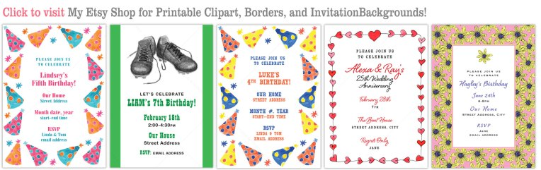 How to Design Invitations using downloadable art Eileen McKenna