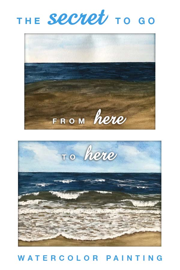 the secret to painting watercolor seascapes | how to paint waves