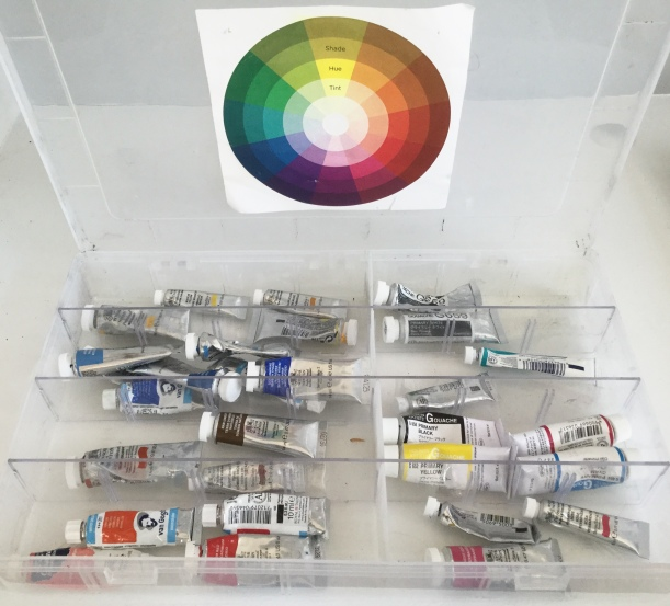 Storage ideas watercolor tubes paint |