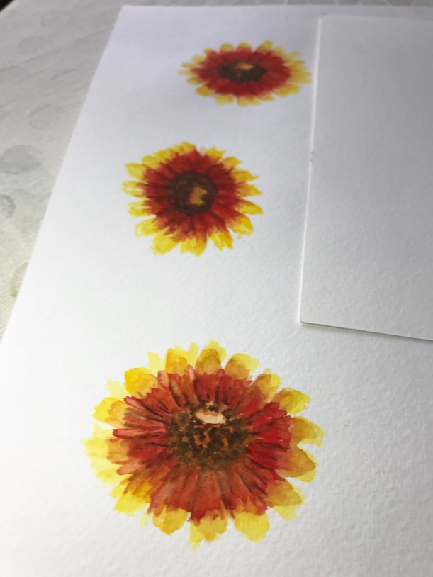 Painting flowers in watercolor - ready for spring!