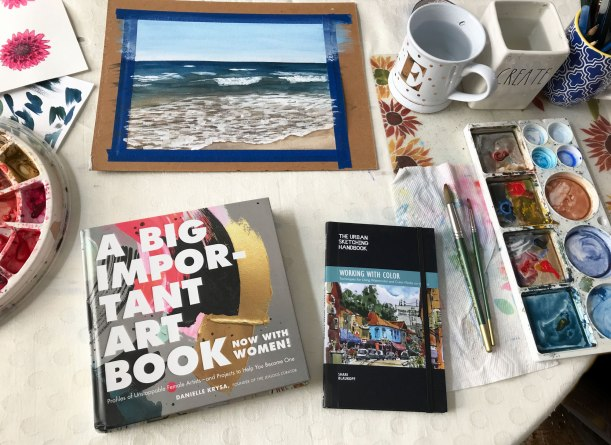 Recommended creative reading - art books - women artists, urban painting watercolor