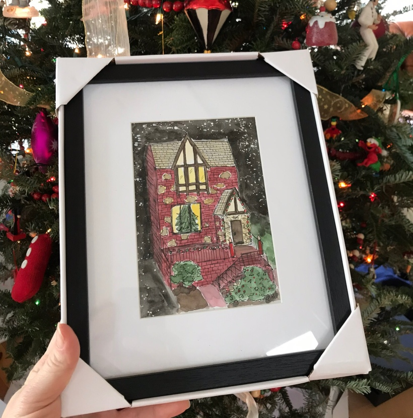 Custom house illustration painting unique gift idea for mom and grandma