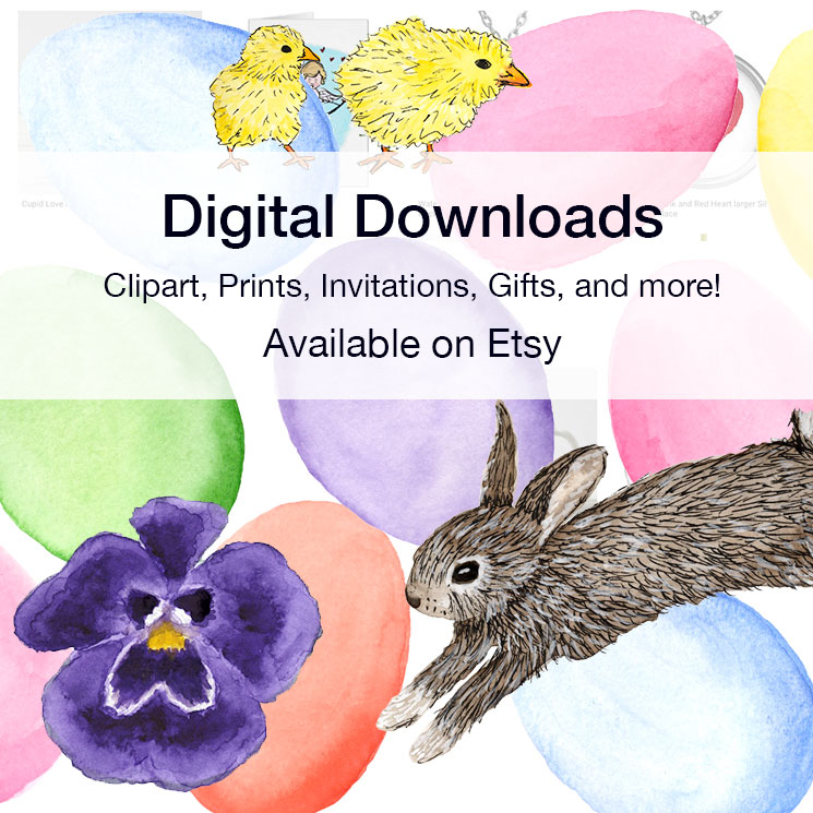 Digital Downloads clipart prints invitations cards gifts   printable