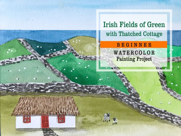 Fields of Green Ireland Painting Tutorial