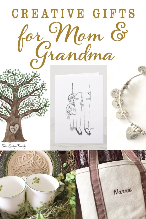 Unique creative gifts for mom and grandma for Mother's Day | personalized gifts for mom and grandmother
